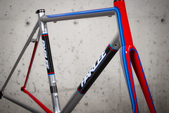 Z-Zero Custom (parleecycles) Tags: blue red usa bike bicycle silver paint hand massachusetts martini made american porsche beverly carbon custom fiber built cycles parlee parleecycles