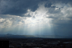 Rays on the Rocky Mountains (courtneyureelmowry) Tags: city mountains colorado rocky august denver co rockymountains 16thstreetmall 2013 westindenverdowntown