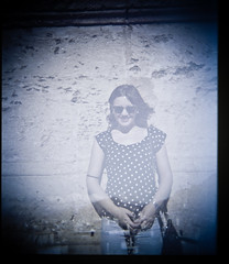 (veri_land) Tags: portrait woman 120 film girl smile vintage holga culture double roofs exposition sicilia lightness cattedrale airiness