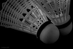 (LMSeebeck) Tags: bw macro sports birdie canon blackwhite shuttle 7d badminton shuttlecock