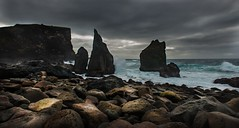 Edge of Eternity (Explored) (Tore Thiis Fjeld) Tags: ocean light sea sky color nature clouds contrast iceland nikon rocks waves stones cliffs rough reykjanes d800 brakers explored