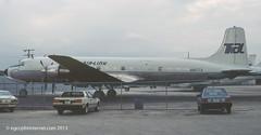 N867TA - 1957 build Douglas DC-6B, this aircraft is the former Kar Air swing-tail freighter OH-KDA (egcc) Tags: miami international mia douglas tal 880 dade dc6 karair kmia dc6b 45202 swingtail ohkda transairlink n867ta