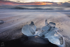 Glacial Ice at Jökulsarlon Beach, Iceland (TheAstroShake) Tags: