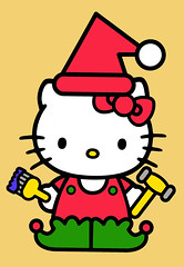 So many things to do before Christmas, but getting into the spirit of it........ (Jay Tilston) Tags: hello christmas kitty