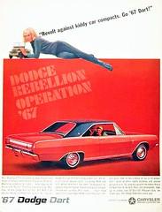 Dodge Dart 1967 (Rickster G) Tags: 1969 car ads 1971 flyer 60s muscle convertible literature 1967 demon 70s dodge 1970 1968 hemi mopar gt sales 1972 brochure dart 440 1973 swinger rallye compact dealer 426 383 scatpack