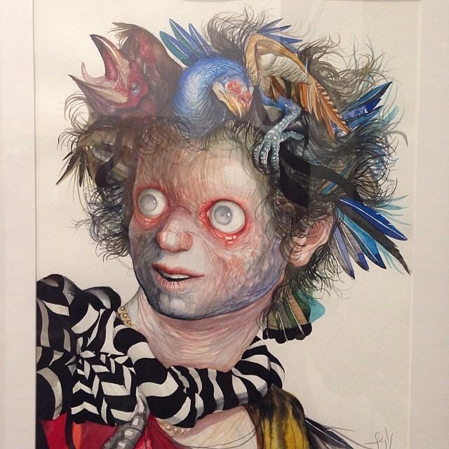 """Gorgona"" Jose Luis Carranza • ""Bestiario"" #muestra colectiva #arteenlima #arte #artinlima #art #artistaperuano #artist #artista #peruvianartist"