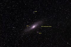 M31 Andromeda Galaxy (Annotated) (jtaisa) Tags: hongkong galaxy astrophotography m31 ngc224 newterritories dso m32 m110 andromedagalaxy ngc221 ngc205 銀河 messier31 deepskyobject 仙女座大星系 messier110 messier32 アンドロメダ銀河