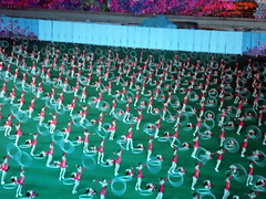 Mass Games in North Korea (Matthew J. Fecteau) Tags: day artistic stadium north performance may grand korea mass gymnastic pyongyang arirang