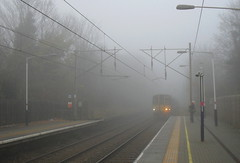 Thick fog Palmers Green station London UK 11.12.13 (Ralph Stephenson) Tags: uk green london station fog thick palmers 111213