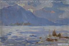 Romualdo Prati Veduta del Lago di Caldonazzo (1910-14) olio su tavola 24.5x36.5cm Collezione privata