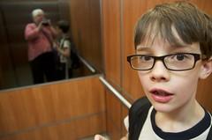 Elevator (annburlingham) Tags: family boy reflection mirror elevator brisbane henry winner shoottheshooter candidchild thechallengefactory