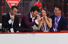 Meagan Duhamel & Eric Radford in the Kiss & Cry (Melanie Heaney) Tags: sports action pairs canadians figureskating richardgauthier kissandcry ericradford meaganduhamel brunomarcotte