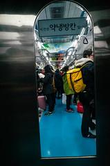 A peek into Seoul subway (strogoscope) Tags: train subway seoul southkorea