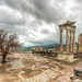 The Temple of Trajan in the rain, Bergama