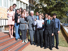 Dr. Mark with our LUNAR Council students, 2014. (UT Aerospace Engineering & Engineering Mechanics) Tags: ut technology science aerospace aseem advancements hansmark aerospaceengineeringandengineeringmechanics hansmmark utaerospace lunarcouncil