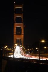 A River of Cars (Don McCullough) Tags: sanfrancisco california bridge canon goldengatebridge traffictrail 5dmarkiii