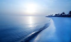 Sea  (@_MohamedAlamri   ) Tags: blue sea     blinkagain