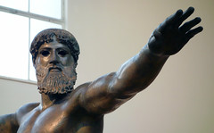 Artemision Zeus or Poseidon (detail with right arm), c. 460 B.C.E.