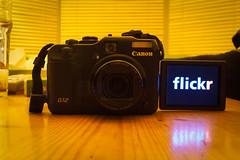 Nine years (1/3) (tompagenet) Tags: camera flickr display nine 9 flickrversary flickrlogo canonpowershotg12