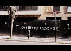 I'LL CRY IF THEY PUT A TESCO HERE (@fotochap) Tags: street uk england london mare tesco hackney