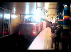 the not so well known railgrinder... (4niki) Tags: auto night train subway 50mm nikon bright stockholm f14 headlights christian f putte natt patrik tunnelbana railgrinder 4niki mode nikorrs sliptg