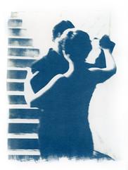 Dance me to the end of love  (2004) (Alexander Tkachev) Tags: 8x10 35mmfilm alternative cyanotype alternativephotography digitalnegative altprocess contactprinting
