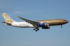 Gulf Air | Airbus A330-243 | A9C-KC (Ryan Douglas.) Tags: london march airport gulf ryan heathrow air 09 airbus douglas runway a330 spotting lhr 2014 egll a330243 09l a9ckc ryansairlinepictures lhr0314