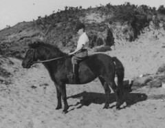 Rhosneigr (theirhistory) Tags: boy horse shirt wales sand child pony cap wellies breeches ridingboots