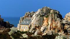 In the rocks (KerKaya) Tags: house seascape rocks day bretagne clear fz200 kerkaya