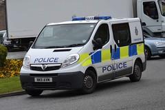 NK11 AVM (S11 AUN) Tags: station call durham cell police cage vehicle van emergency vauxhall response 999 constabulary vivaro responding nk11avm