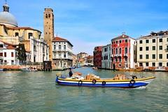 Venice : Parcel services (Pantchoa) Tags: venice venezia venecia venise grandcanal boat parcelservices deliveryman fondamentarivadibiasio sangeremiachurch ponteguglie canaledicannaregio nikon d7100 nikkor1685f3556gedvr 1685f3556gedvr pantchoa pantxoa