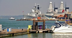 The Old and The New (standhisround) Tags: water boat ship destroyer portsmouth warship dockyard royalnavy hmsgloucester hmsdaring d32 d96 d34 hmsdiamond