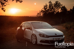 VW Scirocco (Ben Gaut Photography) Tags: sunset cars car vw canon volkswagen deck modified slammed airlift scirocco airride illest modifiedcars fatlace stanceworks canibeat stancenation juststance