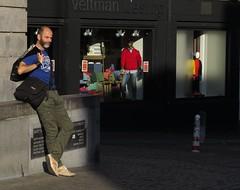 utrecht (gerben more) Tags: portrait people sunlight man mannequin netherlands shop beard him utrecht nederland etalage portret