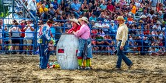 Rodeo - End Of The Performance (ezigarlick) Tags: photographer clown barrel performance manitoba end rodeo bullfighters richer dawsonroad dawsontrail jimbobpitura heartlandrodeoassociation richerroughstockrodeo jonbosko leebellows jordynnswanson