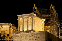 Temple of Athena Nike in the Acropolis. (Garnham Photography) Tags: nightphotography archaeology architecture night greek temple ruins columns athens historic greece column acropolis athena archeology touristattractions greektemple traveldestinations touristdestination templeofathenanike
