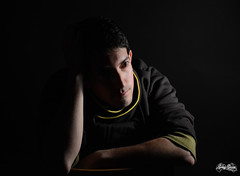 Portrait of Alberto Santamarina. (Gabry Garces) Tags: portrait man model fashion black light chiaroscuro photo person young adult people art creacción thoughtful thinking intelligent retrato hombre shadow