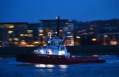 SD Shark (3) @ Gallions Reach 07-03-17 (AJBC_1) Tags: riverthames london ship boat vessel dlrblog england unitedkingdom uk ©ajc northwoolwich eastlondon newham londonboroughofnewham tug tugboat nikond3200 shipsinpictures kotugsmittowage woolwichreach sdshark dusk night nighttime shipsatnight