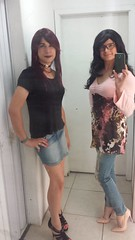 2016.12-04 (SamyOliver) Tags: samycd samy samyoliver samantha samanthaoliver crossdresser crossdress genderqueer genderfluid shopping outside withfriend