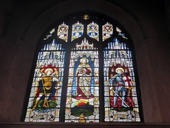 desolate - St Andrews church Norwich (jmc4 - Church Explorer) Tags: norwich standrews stained glass window saint michael archangel dragon devil george church norfolk andrew