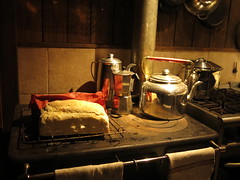 Fresh bread in a nice cozy lodge in patagonia