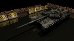 Render Test - T-90 (SharkyUK) Tags: 3d graphics homebrew cgi raytracing