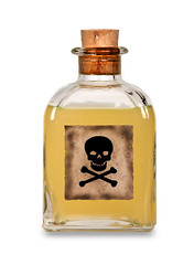 Glass bottle of poison (Francis Jimnez Meca) Tags: white detail cute toxic glass up sign illustration danger warning vintage cutout dead skeleton death skull bottle dangerous kill die symbol drink beware object empty cork cartoon experiment evil can container fluid caution drug bone draw transparent poison liquid bane vector isolated crossbones chemical poisonous venomous vial venom toxin envenom