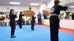 All 3 of us had karate tests (PixieRosa) Tags: karate tests