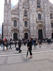 Kristin at the Cathedral of Milan (iKristinw) Tags: travel italy milan cathedral gse