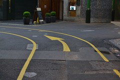 2013-05-14: Left At Roast (psyxjaw) Tags: london tarmac yellow concrete paint floor market borough arrow marking markings londonist