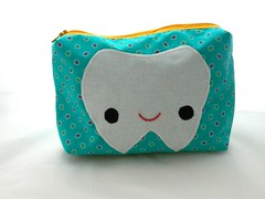 Happy tooth bag (Mowglee Mo) Tags: cute tooth bag sew pouch kawaii sewn toiletbag