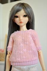 diana (Milk Bunny Dolls) Tags: pink baby rose ball grey doll skin ns chloe clothes wig bjd normal fairyland jointed mnf babypink leekeworld minifee