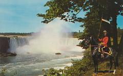 Canadian Horseshoe Falls - Niagara Falls, Ontario (The Cardboard America Archives) Tags: ontario vintage niagarafalls postcard rcmp mountie
