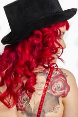 Model: Charley Rose / Porcelain 6 (Louay Henry) Tags: red woman hot girl beauty hat tattoo lady female model nikon feminine sydney australia babe nsw redhair d7000 tamron2470mm nikond7000